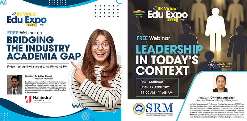 Free webinars by well-known Universities at IIK Virtual Edu Expo 2021