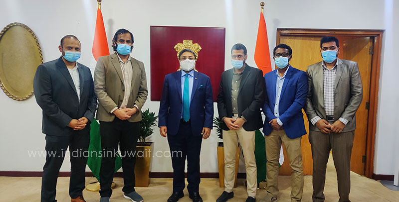 Youth India Kuwait Office Bearers Visit Indian Ambassador