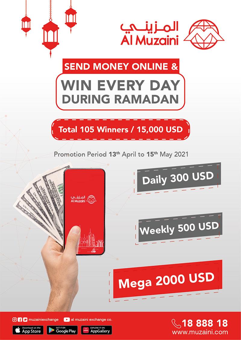 Al Muzaini Launches Ramadan Promotion; Send Money Online & Win Everyday During Ramadan
