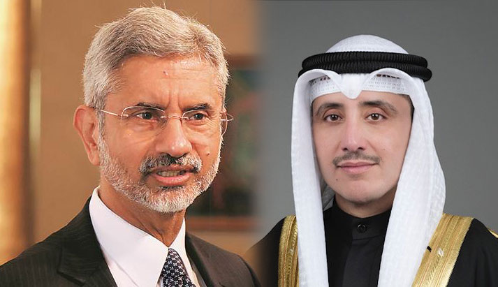 Foreign Minister Dr S Jaishanker held telephonic conversation with Kuwait FM