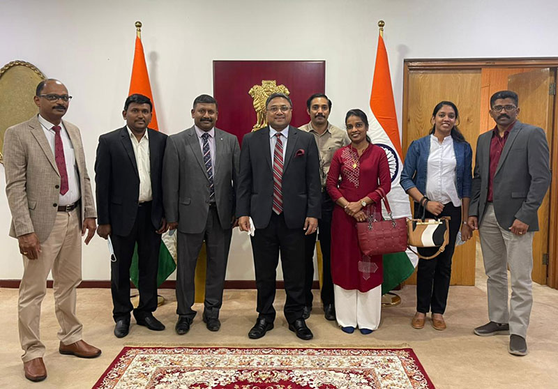 Office Bearers of Advaitham Kuwait met Indian Ambassador