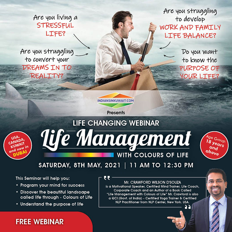 Free Webinar on Life Management on 8th May 2021