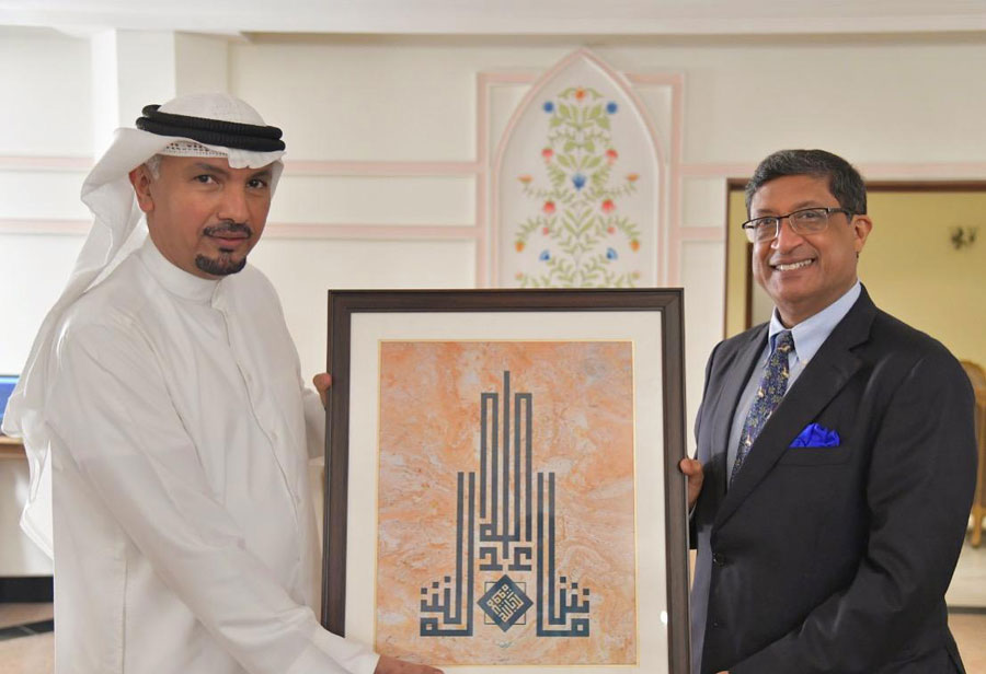 Kuwait Embassy in India marks 60th nat