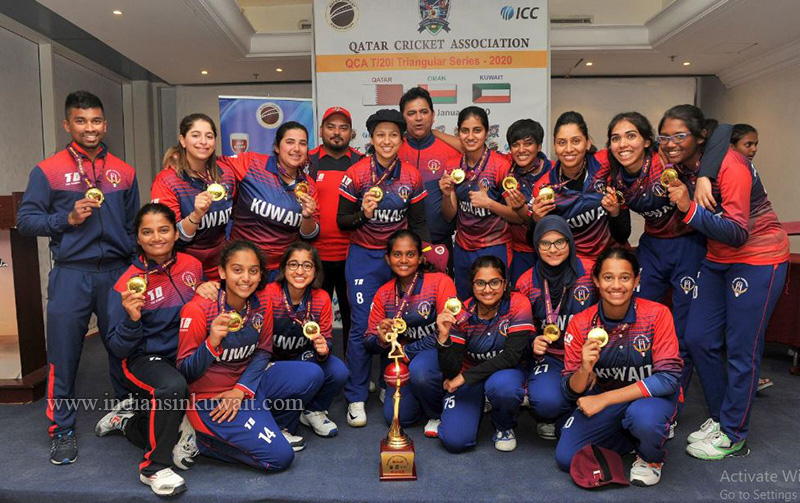 Kuwait National Women Cricket Team Clinches the Triangular Series in Qatar