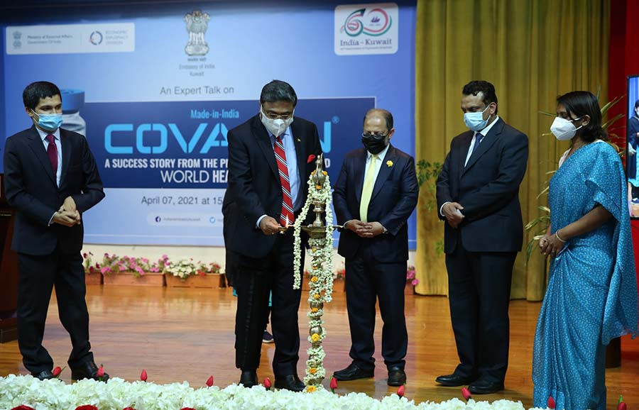 Embassy organized Expert Talk on Made-In-India COVAXIN