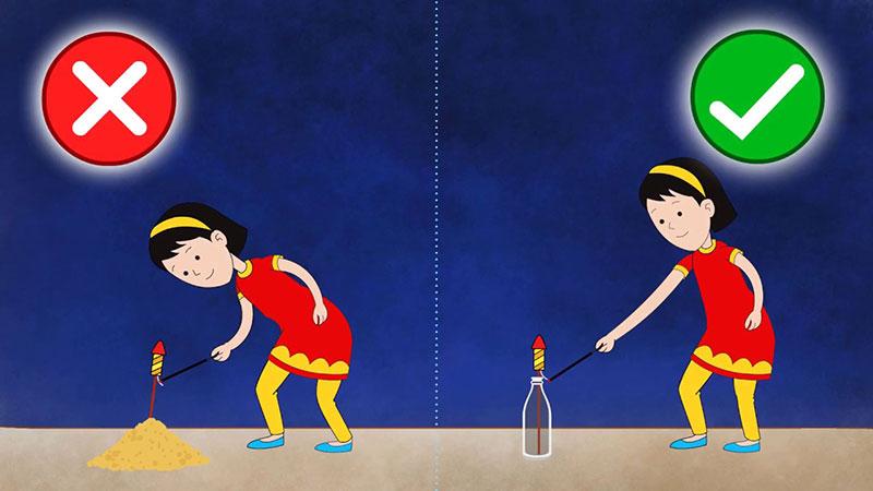 Safety Measures while bursting crackers during Diwali
