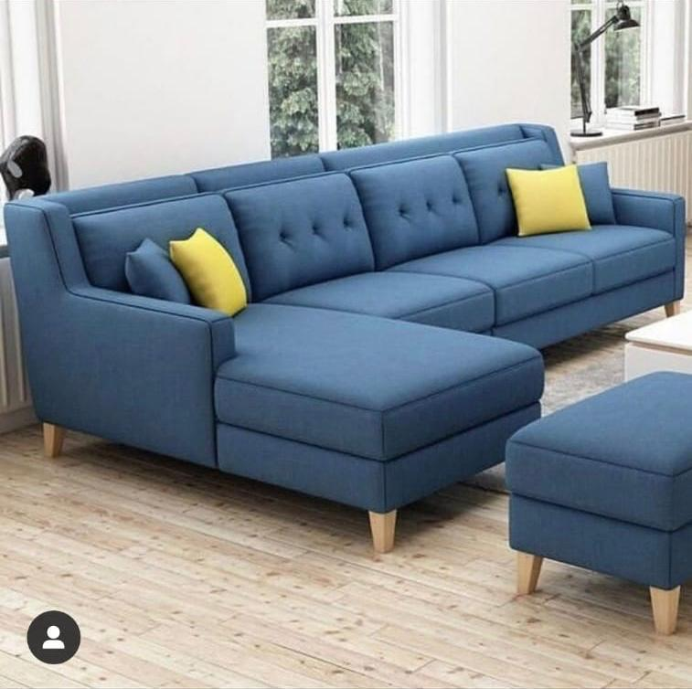 New stylish sofa set with pillows