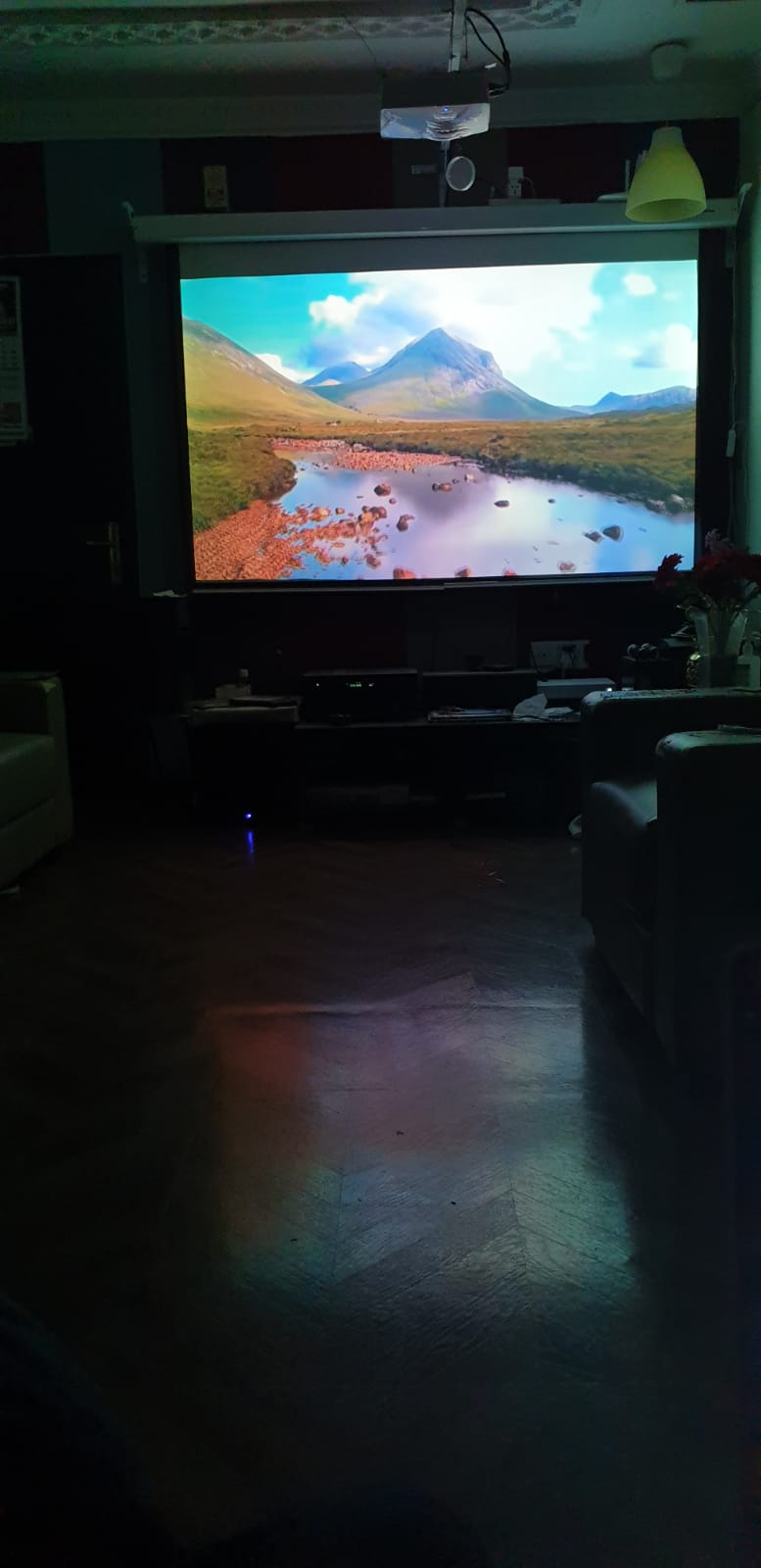 """Projector with Motor operated 100"""" screen for sale"""