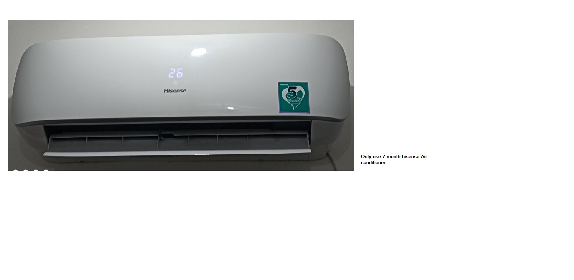 split 1.5 ton Air Conditioner only use seven month