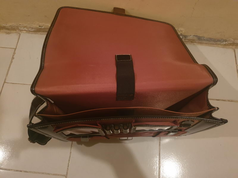 100% Full Leather Laptop Bag for sale