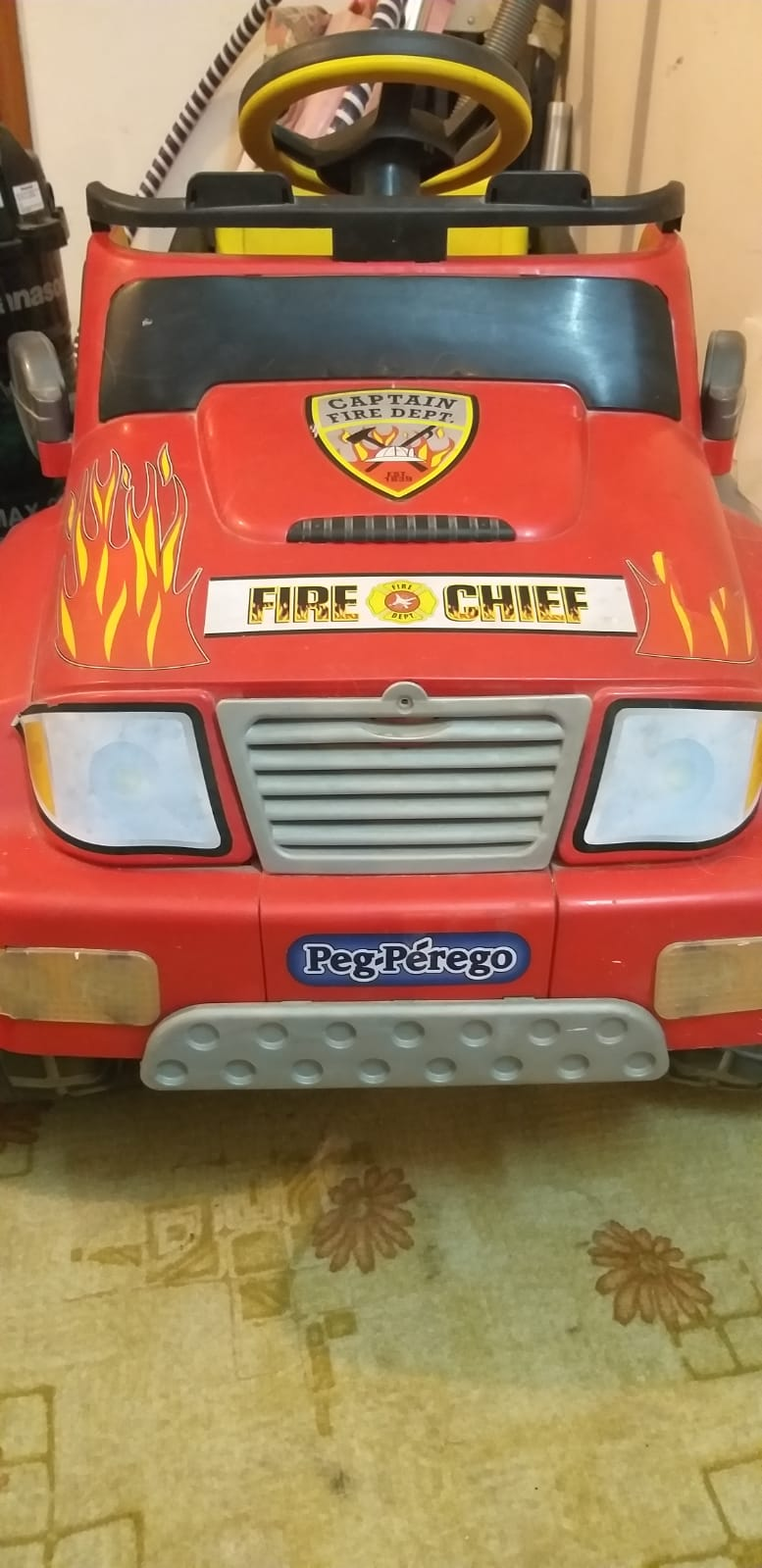 Toy Peg Perego Fire Chief Truck for Sale--Red color