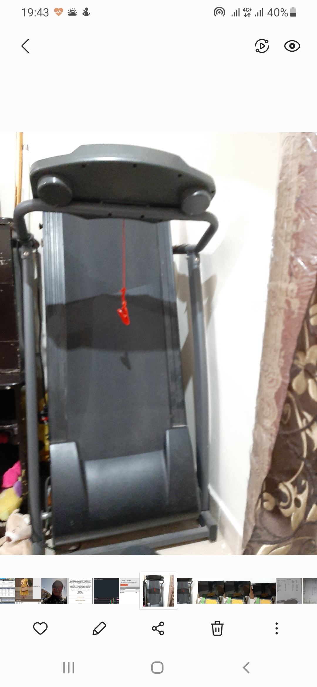 Treadmill and  Television