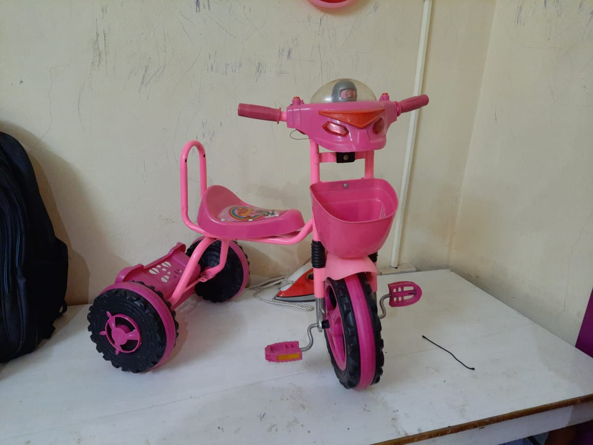 Trolley and baby kids cycle