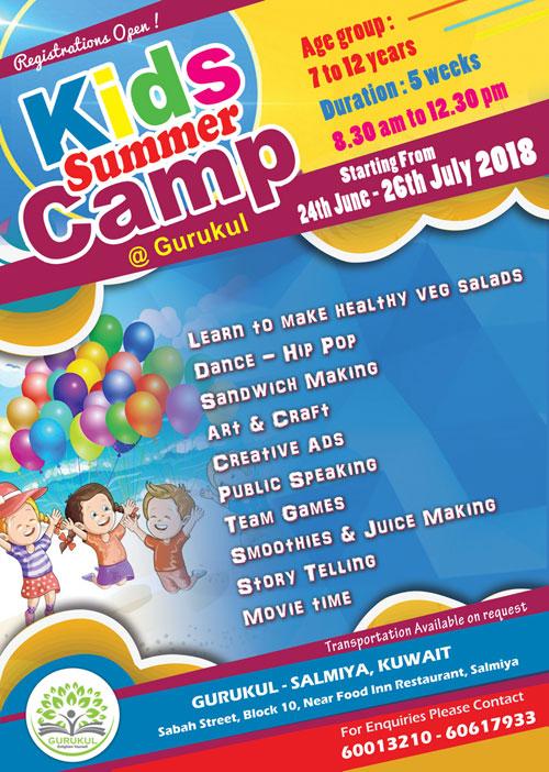 IndiansinKuwait com - Kids Summer Camp at Gurukul, Salmiya