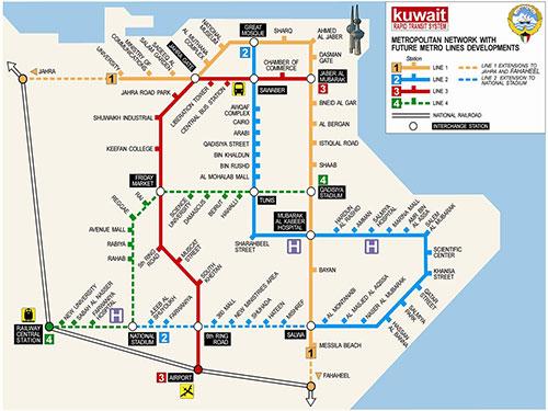 IndiansinKuwaitcom Kuwait Metro transport system by 2019