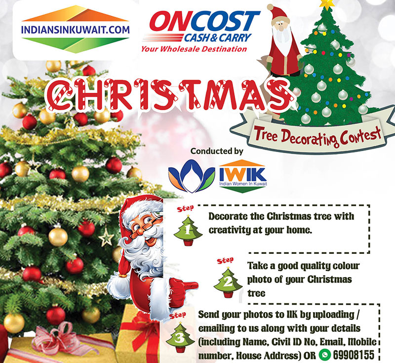 IndiansinKuwait com - Decorate your Christmas Tree and win prizes