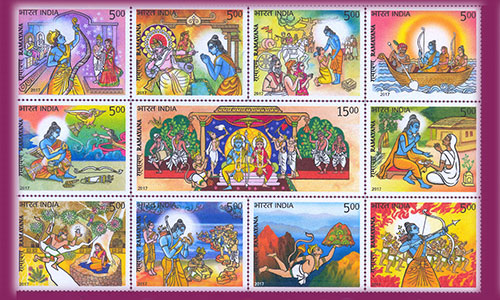 Image result for india-post-releases-ramayana-stamp-series
