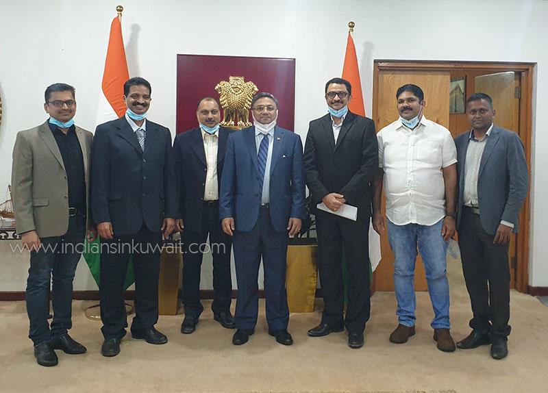 Kuwait Knanaya Cultural Association (KKCA) officials visited Indian Ambassador