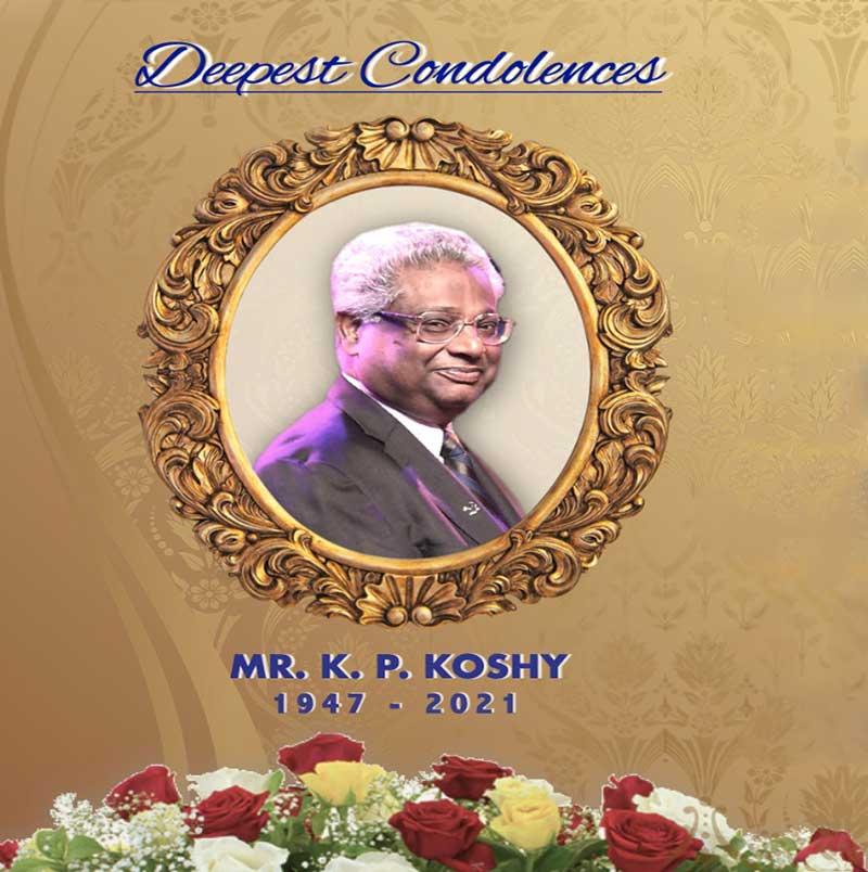 Praise God Ministry condole the sad demise of MR.K.P. Koshy