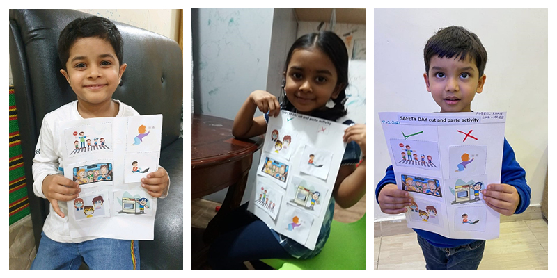 """""""Safety does not depend on luck; it depends on us,"""" says the Kindergarten Kids of Smart Indian School"""