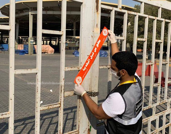 Friday market closed after it reopens today for violation of health measures