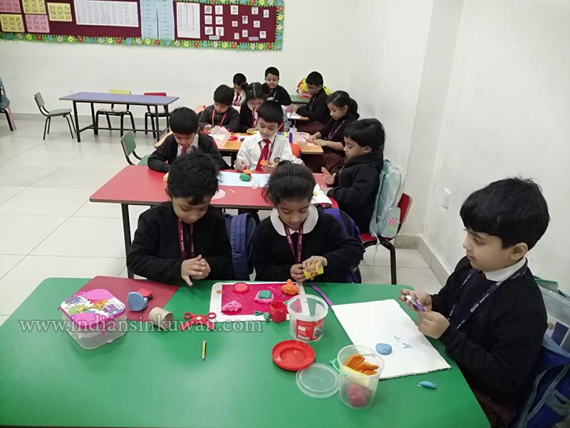 Bhavans SIS Kindergarteners' Clay Modelling Artwork