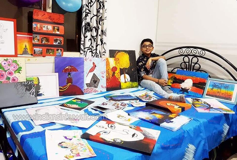 Hidden talents unveiled at lockdown; 10-Year-old Prithvi Saju Ram brings out his talent through Sketches.
