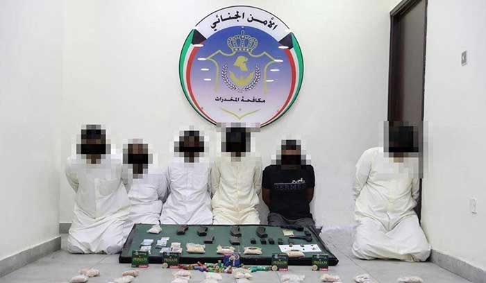 Six member gang arrested for trafficking narcotic substances to the country