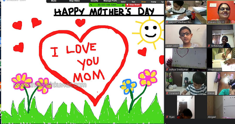 Virtual Mother's Day Celebration at Bhavans SIS