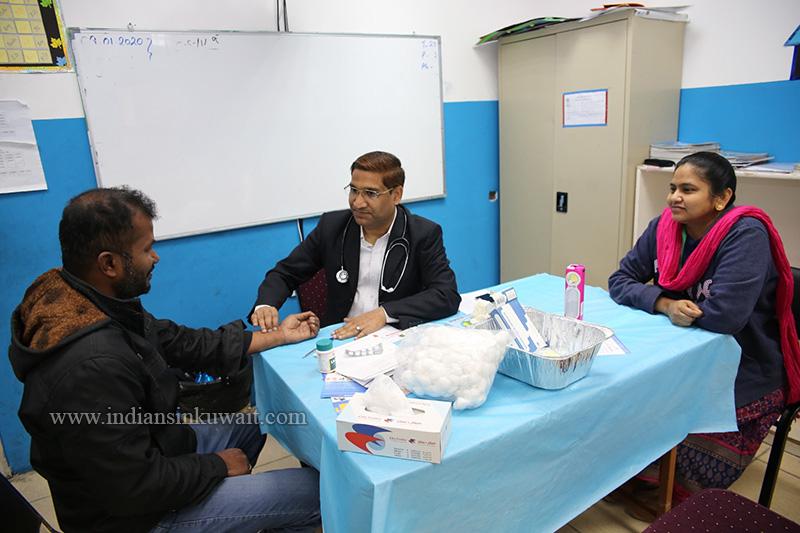 Jamal Mohamed College Alumni Association Kuwait Chapter (JMCAK) Organised Medical Camp