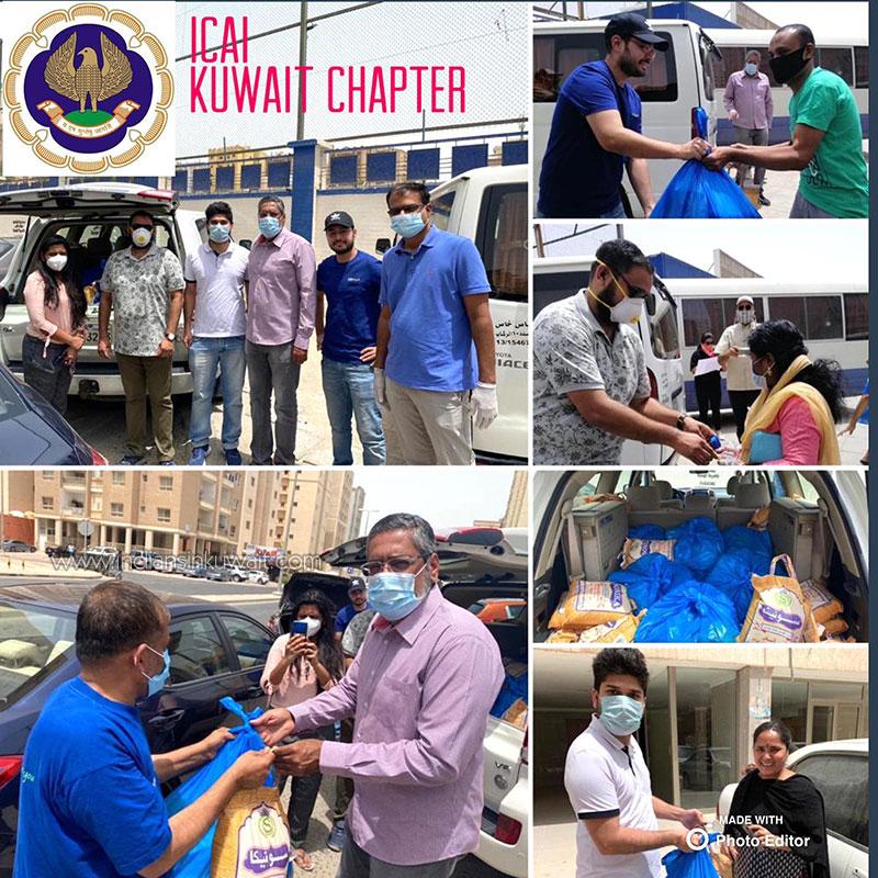 ICAI Kuwait Chapter distributes food kits