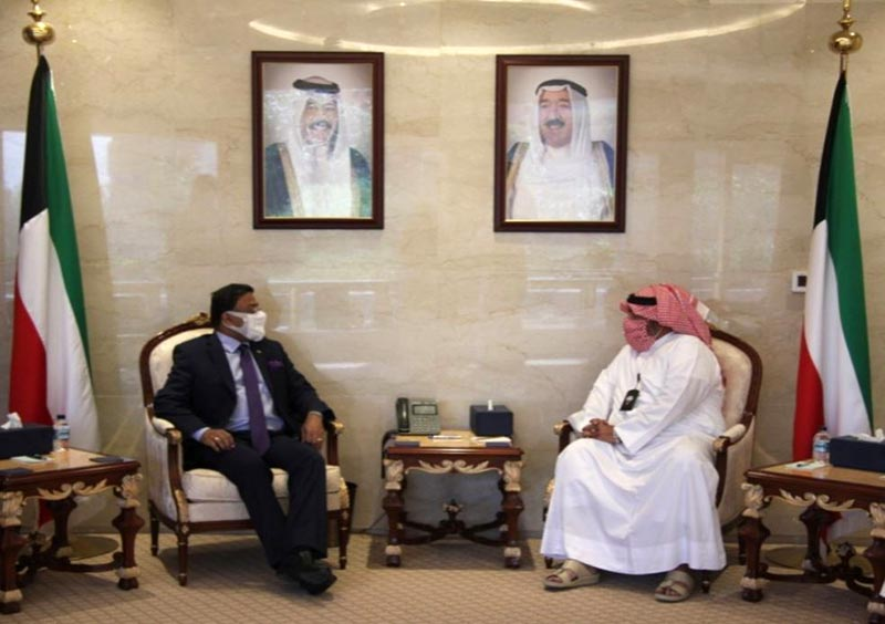 Indian Ambassador discussed bilateral issues with Kuwait National Security chief