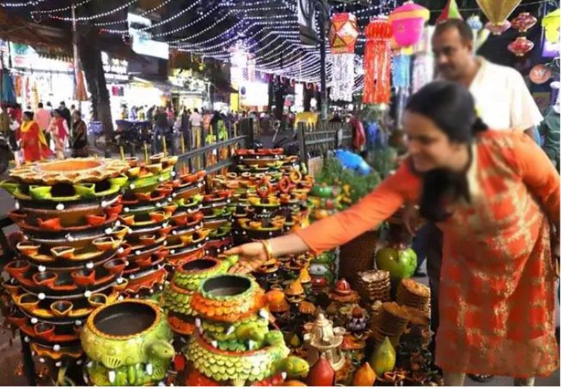 Shopping during Diwali