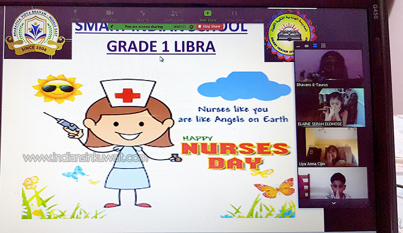 Bhavans SIS is on top of the world honouring Nurses Day