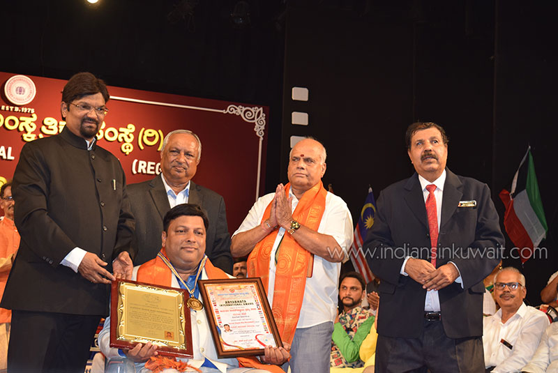 Kuwait based Indian Suresh Shyam Rao Neramballi conferred with Aryabhata International Award