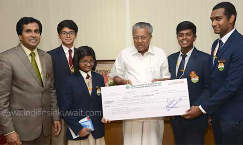 ICSK students handed over 21 lakh rupee towards Kerala 'Chief Minister's Distress Relief Fund'