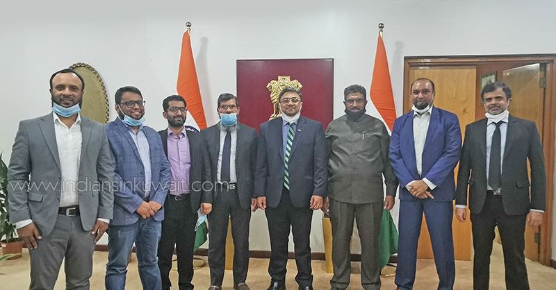 IMA office bearers met with the newly appointed Ambassador of India to Kuwait