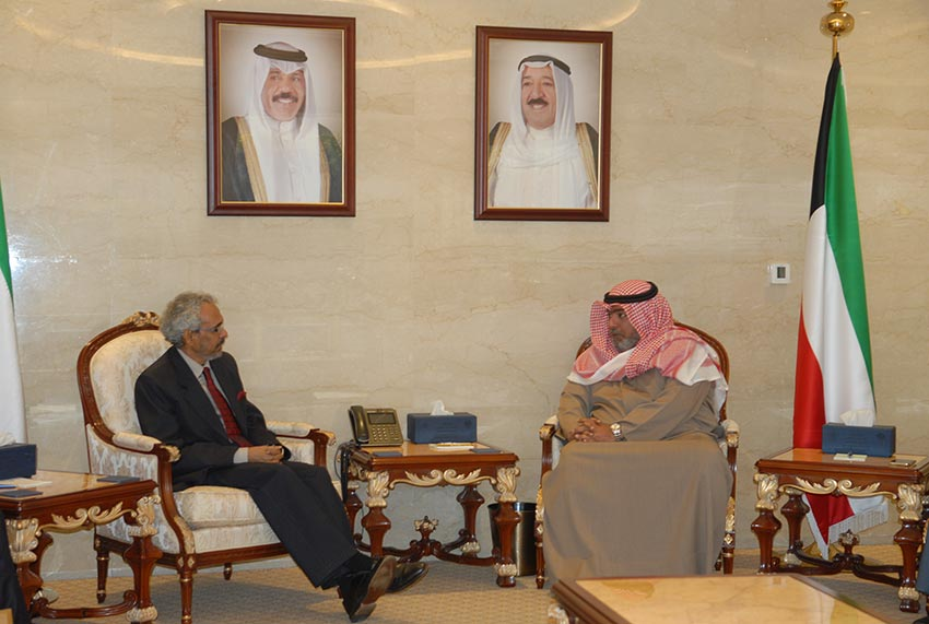Kuwait National Security Chief held discussion with Indian Ambassador