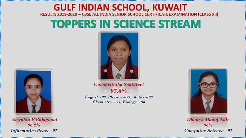 GIS Kuwait: CBSE Class XII Result (2019-2020)
