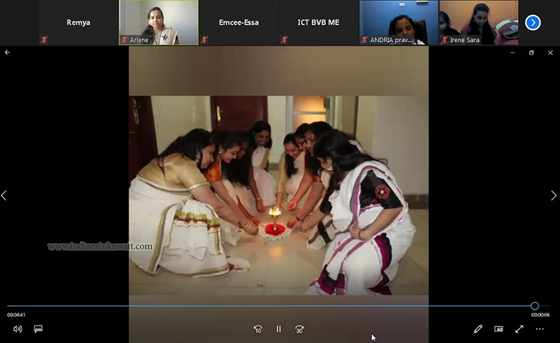 Bhavans Smart Indian School, Kuwait Organized its First Virtual Onam Celebration