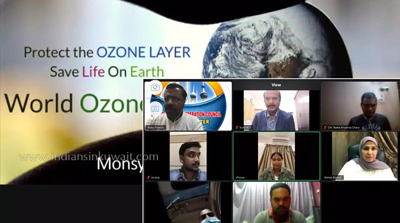"Indo-Arab Confederation Council- Kuwait Chapter   organized  "" World Ozone Day "" webinar"
