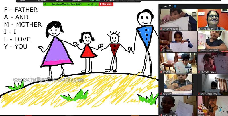 KG rejoices on International Family Day at Bhavans SIS