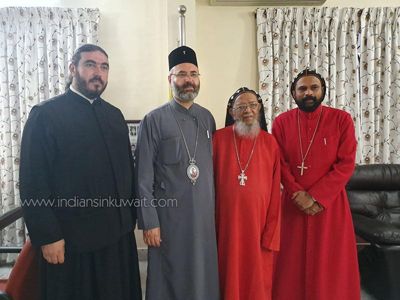 Arch Bishop of Greek Orthodox Church Kuwait maiden visit to India