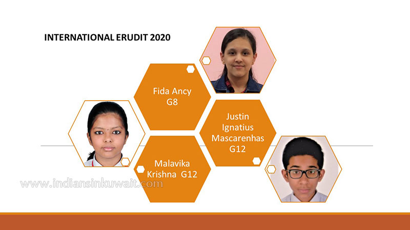 Bhavans IES Bagged Prizes in the International Erudit 2020