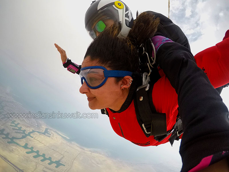 The most thrilling experience of Sky Diving in Kuwait