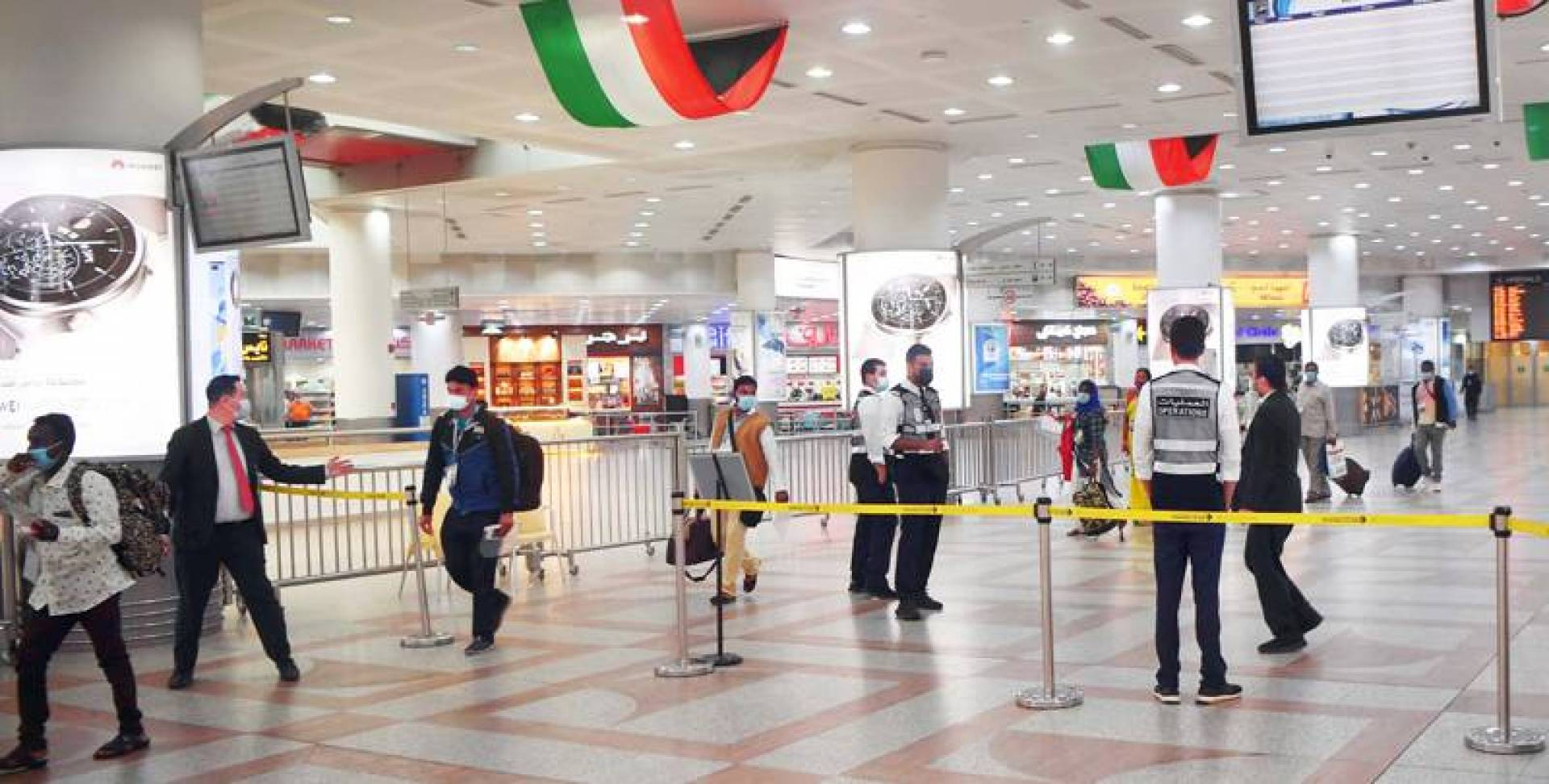 Deserted look at Airport as entry ban for non-Kuwaitis continues