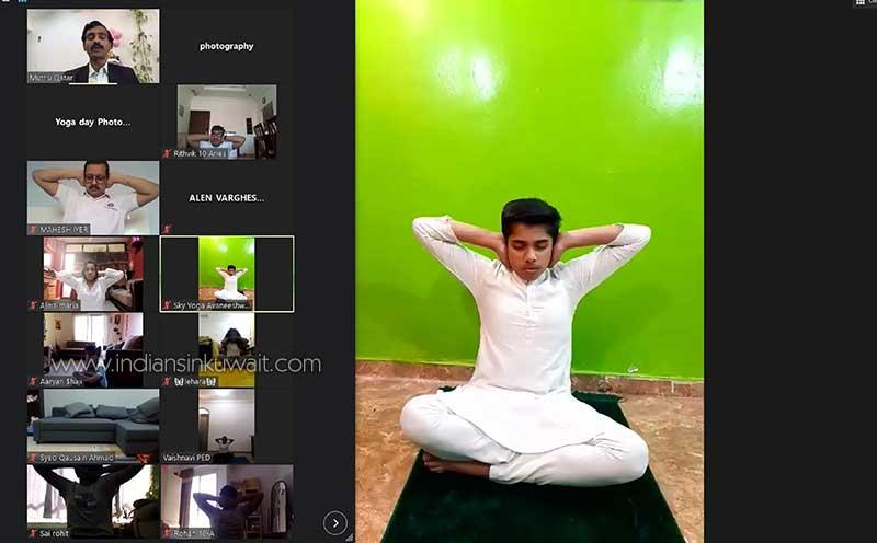 Virtual Celebration of Yoga Day at Bhavans SIS