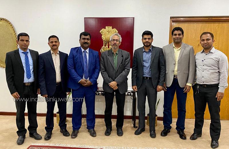 Billava Sangha Kuwait (BSK) Management Committee Visit to Indian Embassy-Kuwait