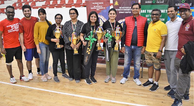 ICAI Kuwait Chapter Organized a Friendly Badminton Tournament