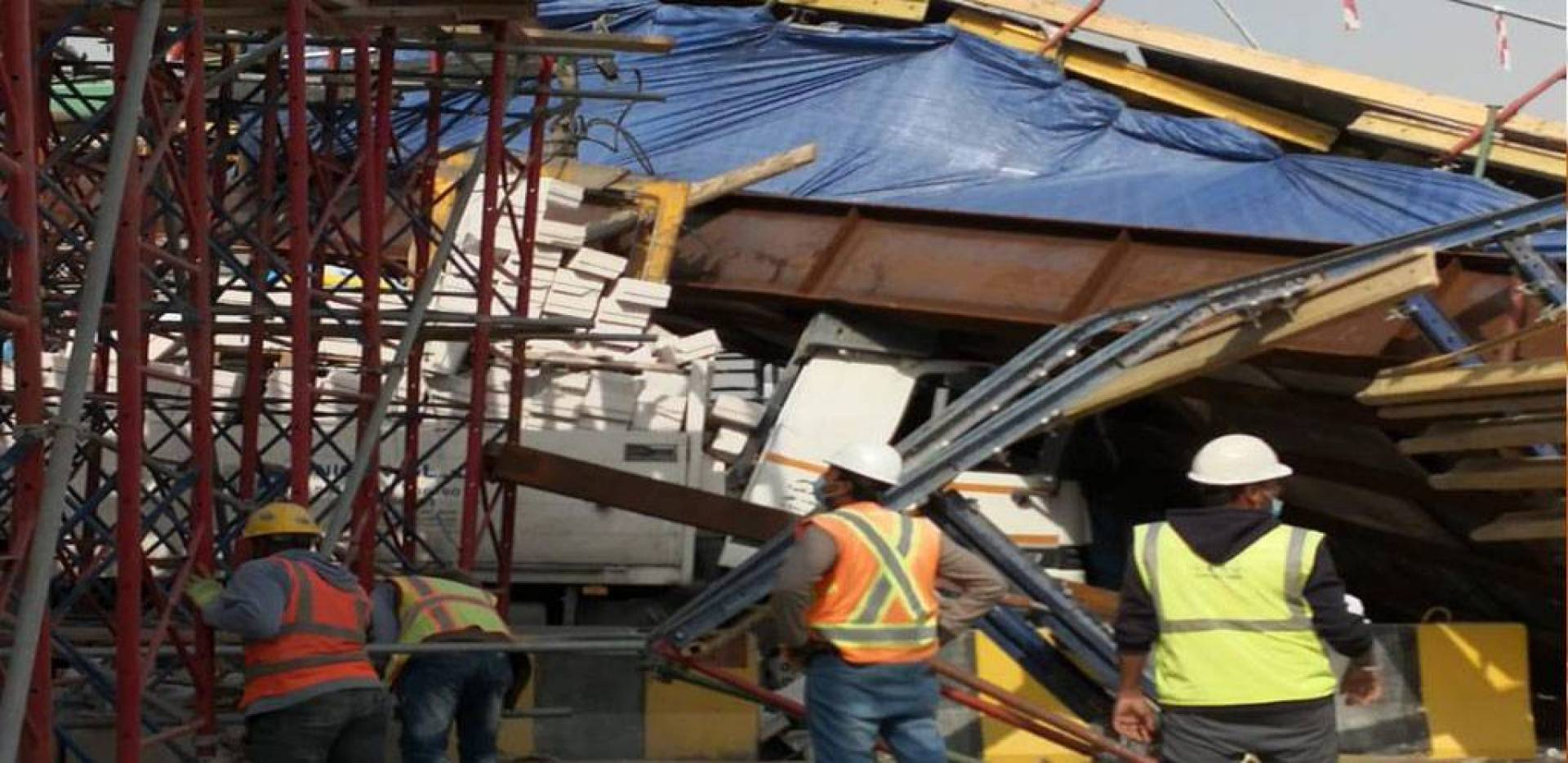 Under construction bridge collapsed on the Seventh Ring Road